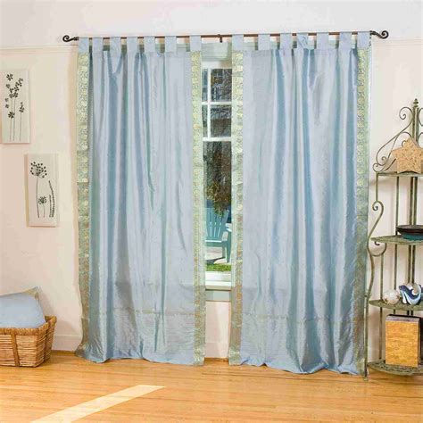 Cafe Curtains Walmart Canada by Gray Tab Top Sheer Sari Curtain Drape Panel Ebay