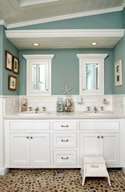 coastal paint colors and painted pine ceiling loving the