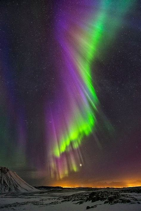 northern lights in iceland purple powerful northern lights iceland