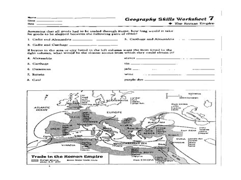 Geography Map Skills Worksheets High School  Geography Worksheets Free Printables Education Map
