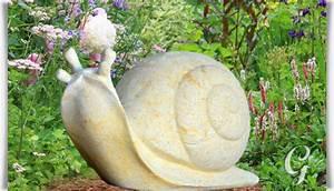 Deko Garten Stein : stein gartenfigur mit schnecke carla ~ Markanthonyermac.com Haus und Dekorationen