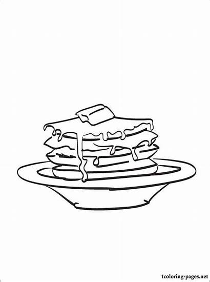 Pancakes Coloring Pages Printable Foodstuff Dish Those