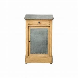 Petit Meuble Metal : decoshop petit meuble d 39 appoint en bois et m tal brun pas cher achat vente chevet ~ Teatrodelosmanantiales.com Idées de Décoration