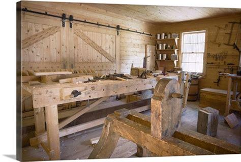 fort edmonton alberta canada  woodworking workshop