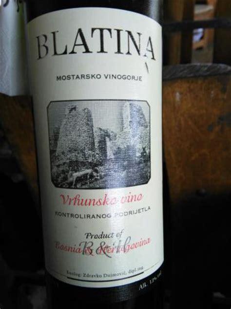 Blatina Vrhunsko Vino 2012 Wine Info