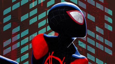 wallpaper miles morales spider man   spider verse