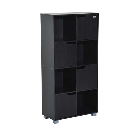 organizer with bookshelf homcom 48 office bookshelf 8 cube storage organizer with