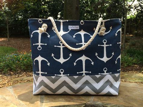 anchor beach bag large tote chevron tote monogram beach bag