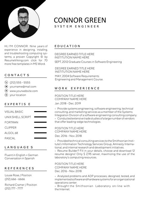 60+ Free Word Resume Templates in MS Word | Download Docx | 2020