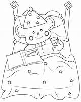 Bedtime Coloring Illustration Royalty sketch template
