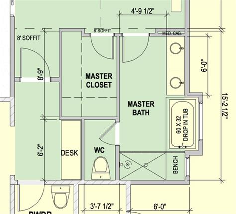 Long Living Room Layout by Master Bathroom With Water Closet Layout