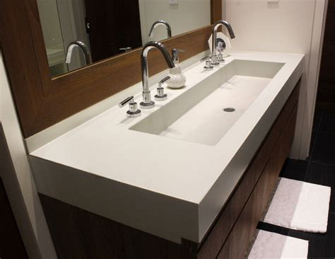 Kitchen Walls Ideas - trough sinks for efficient bathroom and kitchen ideas