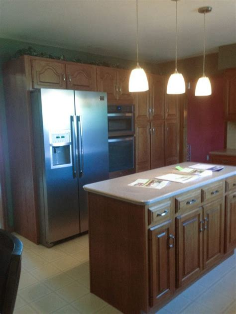 brown and green kitchen a simple kitchen makeover without paint 4933