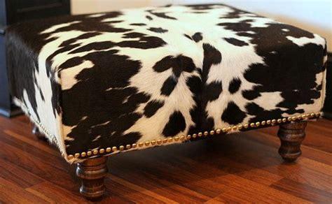 Cowhide Price by Cowhide Ottoman Reupholstered Vintage Footstool In Black
