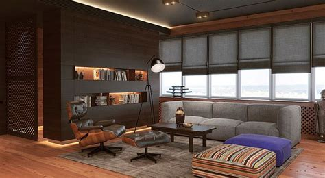 Sophisticated Office Spaces by Living Space Of Smart And Sophisticated Office Apartment