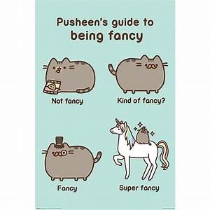 Pusheen Poster Super Fancy - Posters buy now in the shop ...