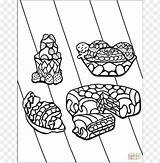 Coloring Pages Desserts Popular sketch template