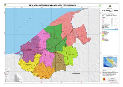 administrasi kota banda aceh peta tematik indonesia