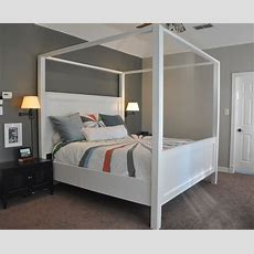 Ana White  Modern King Farmhouse Bed With Canopy  Diy