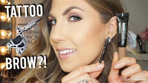 maybelline tattoo studio brow gel  day brows youtube