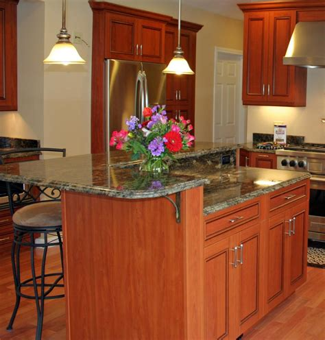 kitchen island design pictures two level kitchen islands with seating kitchen design ideas 5039