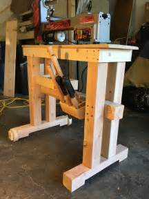 mobile lathe stand woodworking