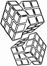 Cube Coloring sketch template