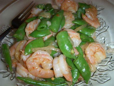 shrimp  sugar snap peas stir fry recipe foodcom