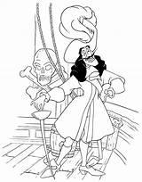 Captain Hook Coloring Pirate Peter Pan sketch template