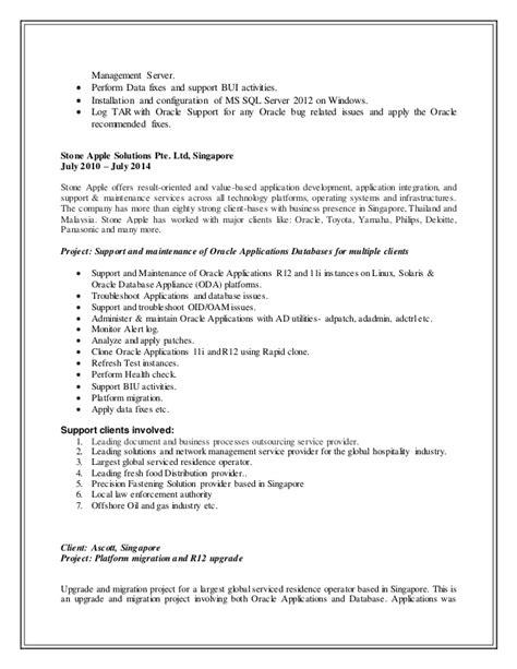 Oracle Resume Impdp updated resume senior oracle applications dba