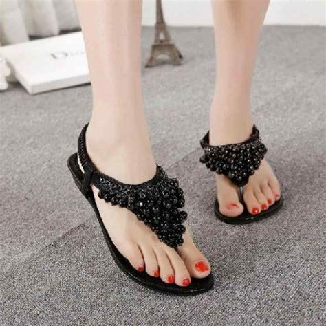 fashion style  fashion party wear flat sandals