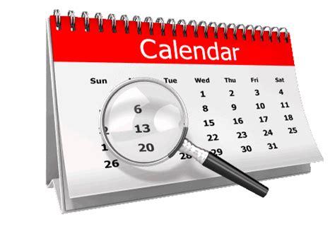 testing testing calendars
