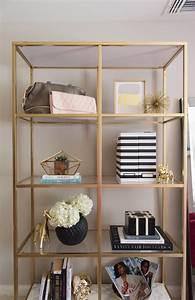 DIY Gold & Marble IKEA Bookcase Hack Alicia Tenise