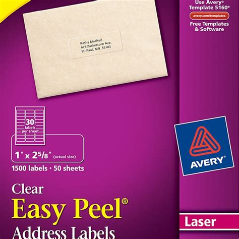 avery 5660 template avery 174 easy peel 174 clear address labels 5660 avery singapore