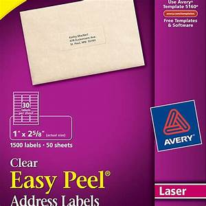 averyr easy peelr clear address labels 5660 avery online With avery 5160 clear labels