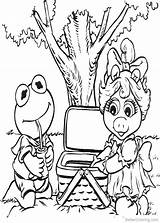Muppet Coloring Babies Picnic Printable sketch template