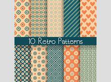 10 Retro Patterns Vector Free Vector Graphic Download