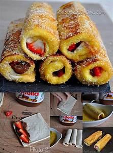 Pain Perdu Au Nutella : pain perdu roul fraise nutella blog de mumu7271 ~ Voncanada.com Idées de Décoration