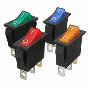 Mini Interrupteur Poussoir : 3 broches on off led spst interrupteur puissance a bascule ~ Edinachiropracticcenter.com Idées de Décoration