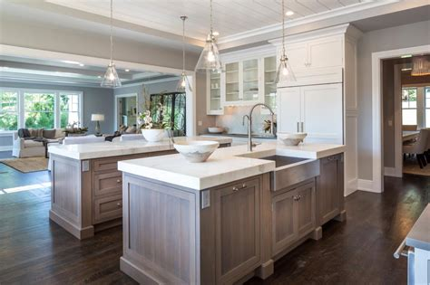 kitchen two islands feeley interiors kitchens 3401