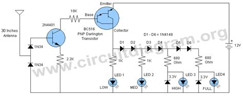 field strength meter circuit diagram