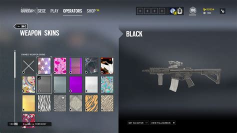 siege promod black universal skin released on the store 10k renown