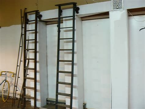 butcher shop rehab vintage library ladders   stock