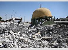 Cash shortage hampers rebuilding of mosques destroyed by
