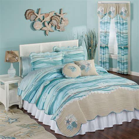coastal bedding quilt sets seaview coastal quilt set