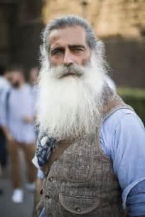 Long Gray Hair Men with Beards