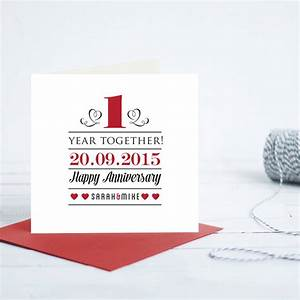 1st year wedding anniversary card by quirky gift library for 1st year wedding anniversary gift