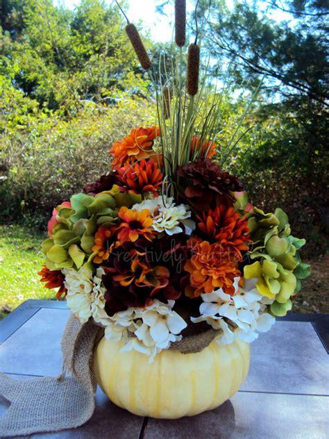 fall arrangements with pumpkins fall white pumpkin autumn thanksgiving flower arrangement table centerpiece by kreativelykrafted