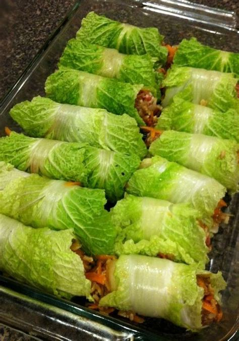 asian stuffed napa cabbage rolls recipe cabbages