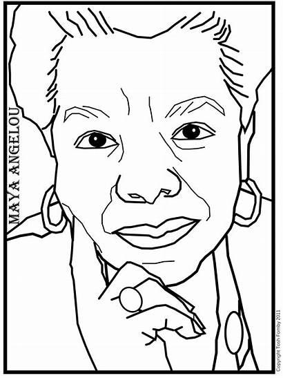 Maya Angelou Coloring Pages Printable Woman Phenomenal